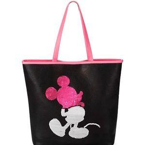 Disney Parks loungefly flip sequin tote bag purse